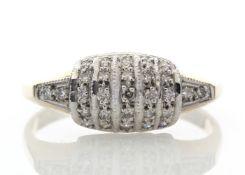 9ct 29 Stone Ladies Dress Diamond Ring 0.29 Carats - Valued by AGI £879.00 - Twenty nine round