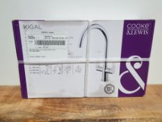 COOKE&LEWIS KIGAL TWIN LEVER TAP RRP £72Condition ReportAppraisal Available on Request- All Items