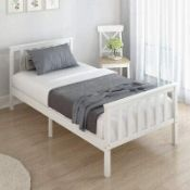 BOXED WHITE PINE SINGLE BED SKU: WFO38853KAA RRP £89.00 (AS SEEN IN WAYFAIR)Condition