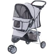 BOXED PAWHUT D00-041GY PET TRAVEL STROLLER RRP £62.99 (AS SEEN IN WAYFAIR)Condition