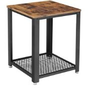BOXED VASAGLE BY SONGMICS LET41X END TABLE RRP £29.99 (IMAGE DEPICTS STOCK)Condition ReportAppraisal