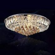 BOXED WDW CEILING LIGHT FITTING WITH LED & SPEAKERS RRP £239.00 (AS SEEN IN WAYFAIR)Condition