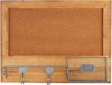 BOXED CARRICK DESIGN HEARTWOOD CORKBOARD ORGANISER 51X10X38CM 5753047 RRP £29.00 (AS SEEN IN