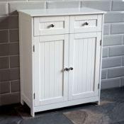 BOXED BATH VIDA PRIANO FREESTANDING BATHROOM CABINET 2 DOOR 2 DRAWER 333474 RRP £59.95 (AS SEEN IN