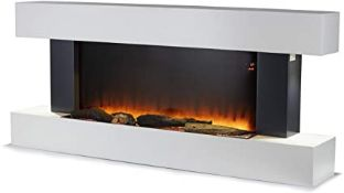 BOXED WARMLITE 2KW HINGHAM WALL MOUNTED FIREPLACE SUITE WITH LED FLAME EFFECT WL45033N RRP £399.
