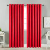 4X BAGGED IMPERIAL ROOMS SOLAR THERMAL EYELET BLACKOUT READY MADE CURTAINS SIZE: 66 X 72 INCH (168 X