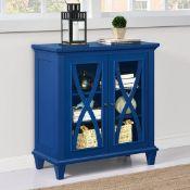 BOXED ELLINGTON 2 DOOR BLUE DISPLAY CABINET 5042396COMUK RRP £164.99 (AS SEEN IN WAYFAIR)Condition