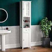 BOXED BATH VIDA PRIANO TALL 2 DOOR BATHROOM CABINET RRP £64.99 (AS SEEN IN WAYFAIR)Condition