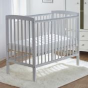 BOXED SYDNEY COT GREY WITH MATTRESS RRP £107.00 (AS SEEN IN WAYFAIR)Condition ReportAppraisal