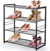 BOXED 4-TIER SHOE RACK ITEM NO.: HB-XJ13M-4 RRP £29.00 (AS SEEN IN WAYFAIR)Condition ReportAppraisal
