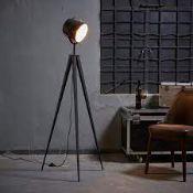 BOXED VERSANORA ARTISTE TRIPOD FLOOR LAMP GOLD VN-L00020-UK RRP £71.99 (AS SEEN IN WAYFAIR)Condition