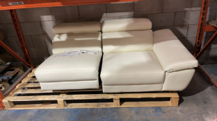 Part Lot of leather sofa in cream
