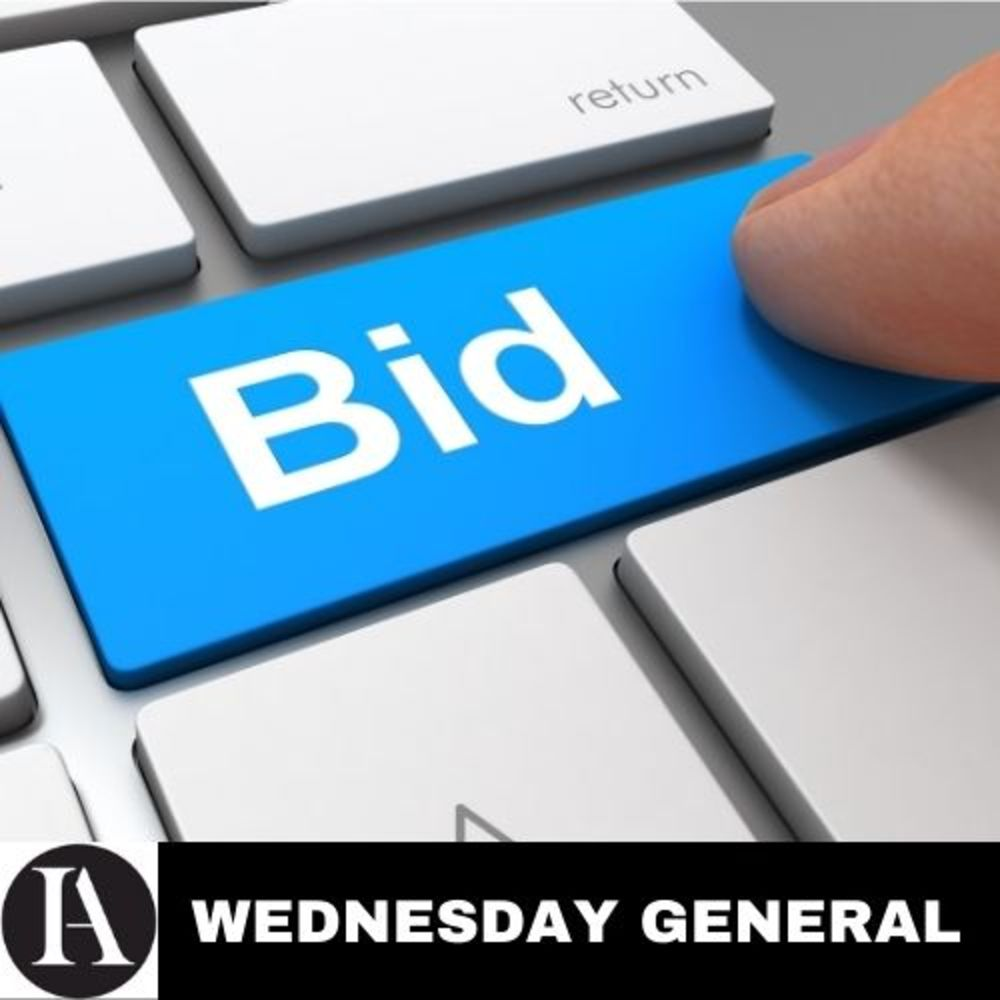 Every Wednesday, No Reserve Sale! General Sale