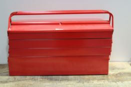 RED TOOL BOX/FISHING TACKLE BOX RRP £45Condition ReportAppraisal Available on Request- All Items are