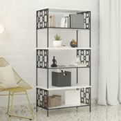 160Cm H x 75.4Cm W Steel Standard Bookcase BY COSMOPOLITAN LIVING RRP £349.99Condition