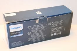 Philips AJ3400 Wake-Up Alarm Clock with Radio for Bedside or Kitchen, Big Display, Dual Alarm,