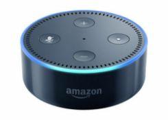 X2 Amazon Echo Dot (2nd Gen) Smart Speaker with Alexa - Black, Complete in fully working order,