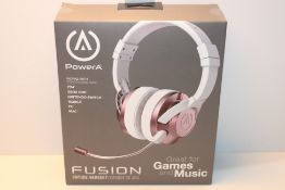 PowerA FUSION Wired Gaming Headset with Mic - Headphones with On-Ear Controls for PC, Xbox, PS4, and