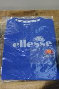 BRAND NEW ELLESSE SPORT BLUE T-SHIRT Condition ReportBRAND NEW