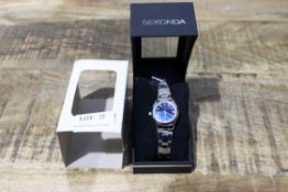 BRAND NEW SEKONDA WOMANS WATCH WITH BLUE FACE RRP £35 Condition ReportBRAND NEW