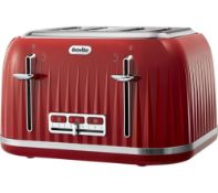 Breville VTT783 Impressions 4-Slice Toaster with High-Lift and Wide Slots, Red £36.82Condition