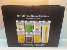 Airtight Food Storage Container Good Grips 7-Piece Sealed Leak Proof BPA Free Plastic Storage