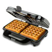 Global Gourmet by Sensiohome Square Waffle Maker Iron Machine 1000W I Electric I Non-Stick Coating