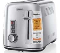 Breville 2-Slice Toaster the Perfect Fit for Warburtons with High Lift, Polished Stainless Steel [