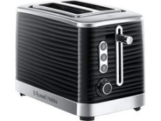 Russell Hobbs 24371 Inspire High Gloss Plastic Two Slice Toaster, Black £29.99Condition