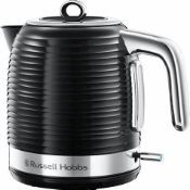 Russell Hobbs 24361 Inspire Electric Fast Boil Kettle, 3000 W, 1.7 Litre, Black with Chrome