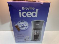 Breville Iced Coffee Maker | Plus Coffee Cup with Straw | Ready in Under 4 Minutes | Grey [VCF155]