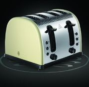 Russell Hobbs 21302 Legacy 4-Slice Toaster, Stainless Steel, 2400 W, Cream £33.95Condition