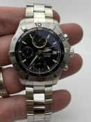 GENTS TAG HEUER STAINLESS STEEL WATCH, CHRONOMETER AUTOMATIC, MODEL- CAF2110, NO BOX, NO PAPERS,