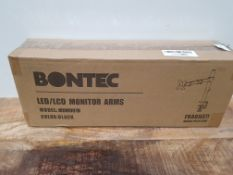 BONTEC Single Monitor Arm Desk Mount for 13-32 inch LCD LED PC Computer Screens TV, Ergonomic Height