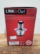 Mini Chopper 600W LINKChef Mini Food Processor 4 bi-Level Blades, 1.2L Robust Stainless Steel Bowl
