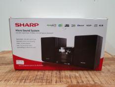 SHARP XL-B515D(BK) Micro Sound System 40W with DAB+ Digital & FM Radio, Bluetooth, USB, Aux & CD