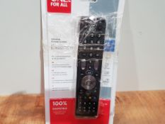 One For All Essence 4 Universal Remote Control - Operates 4 devices (TV Freeview Blu-ray and