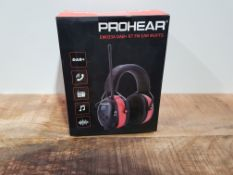 Upgraded DAB Ear Defenders, PROHEAR 033A Wireless Bluetooth Earmuffs, Rechargeable Noise Reduction