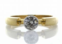 18ct Single Stone Fancy Rub Over Set Diamond Ring 0.53 Carats - Valued by GIE £9,950.00 - A