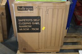BOXED SAFETOTS SELF CLOSING GATE NARROW 68.5CM X 75CM Condition ReportAppraisal Available on