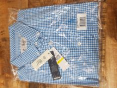 BRAND NEW PENGUIN BLUE CHECK SHIRT SIZE MEDIUMCondition ReportAppraisal Available on Request- All