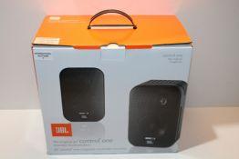 "JBL Control One Rugged 2-Way 100mm (4"") Bookshelf Satellite Audio Monitor Speakers (Pair) - Black"