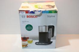 Bosch Styline TWK8633GB Variable Temperature Cordless Kettle, 1.5 Litres, 3000W - Black £59.