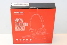 Mpow M5 Pro Bluetooth Headset, Advanced Noise Cancelling Microphone, Strong BT Signal, Comfort-fit
