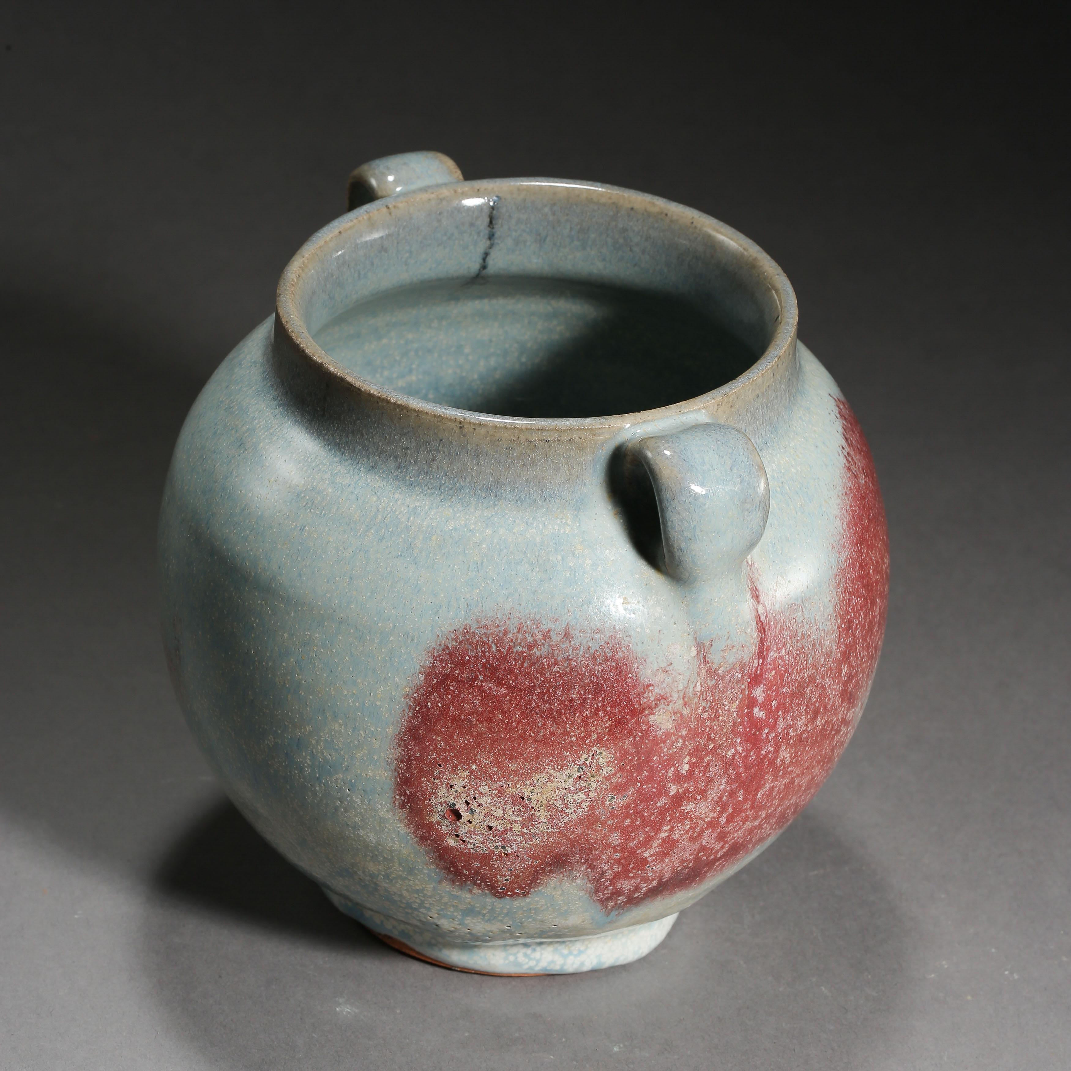 JUN KILN DOUBLE HANDLE JAR, YUAN DYNASTY, CHINA - Image 8 of 10