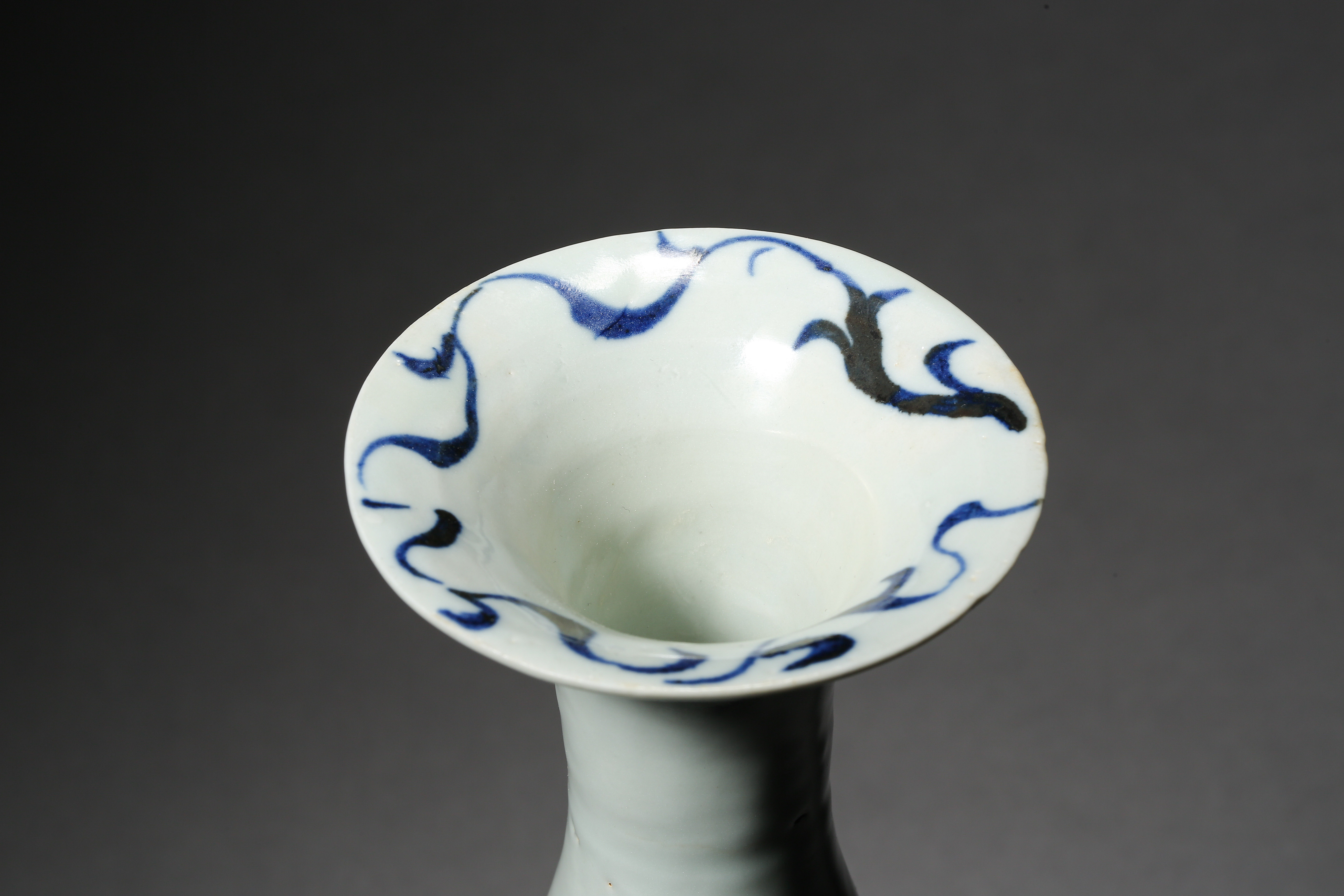 BLUE AND WHITE DRAGON PATTERN VASE, YUAN DYNASTY, CHINA - Image 6 of 8