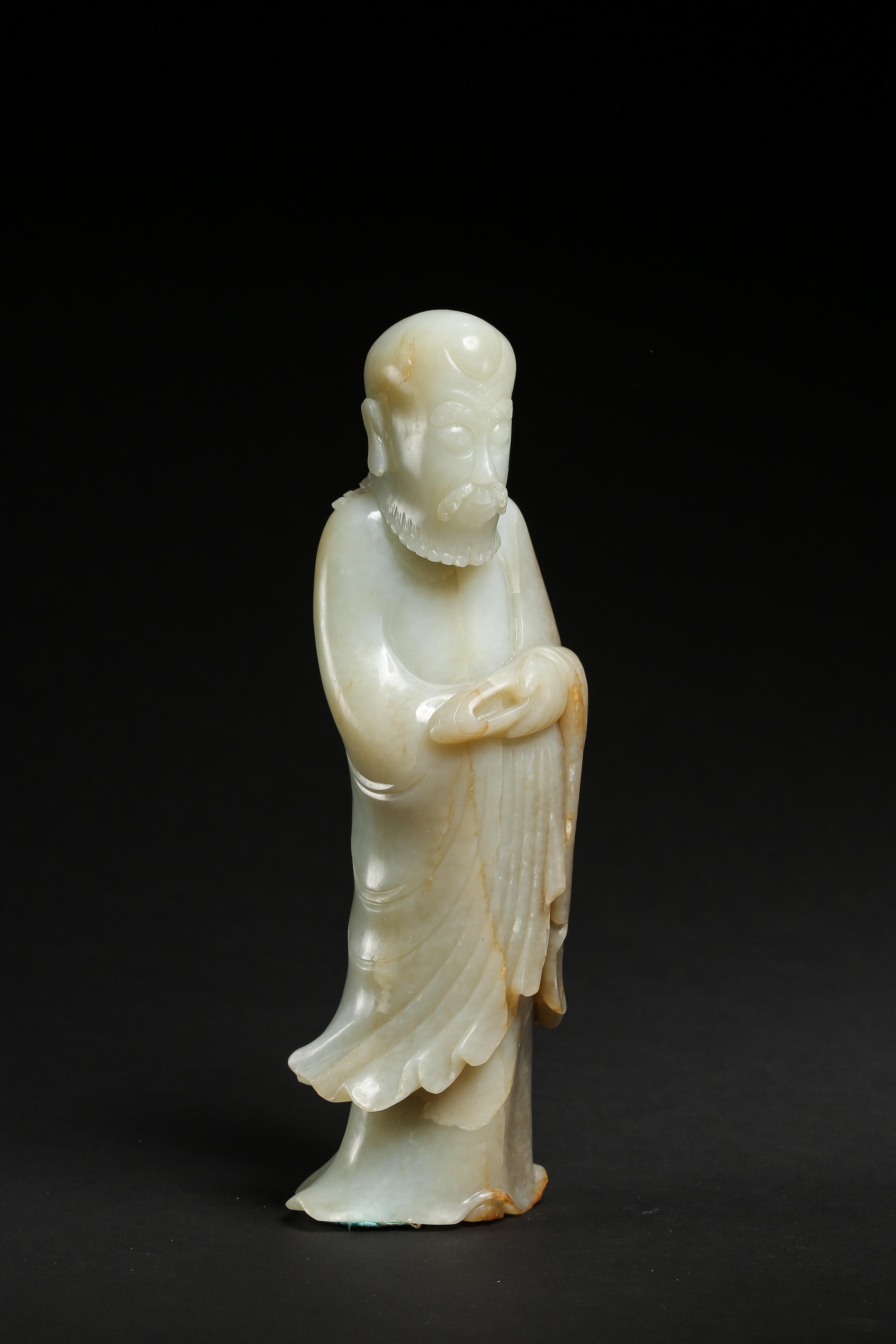 HETIAN JADE LUOHAN (ZILIAO), MING DYNASTY, CHINA - Image 4 of 8