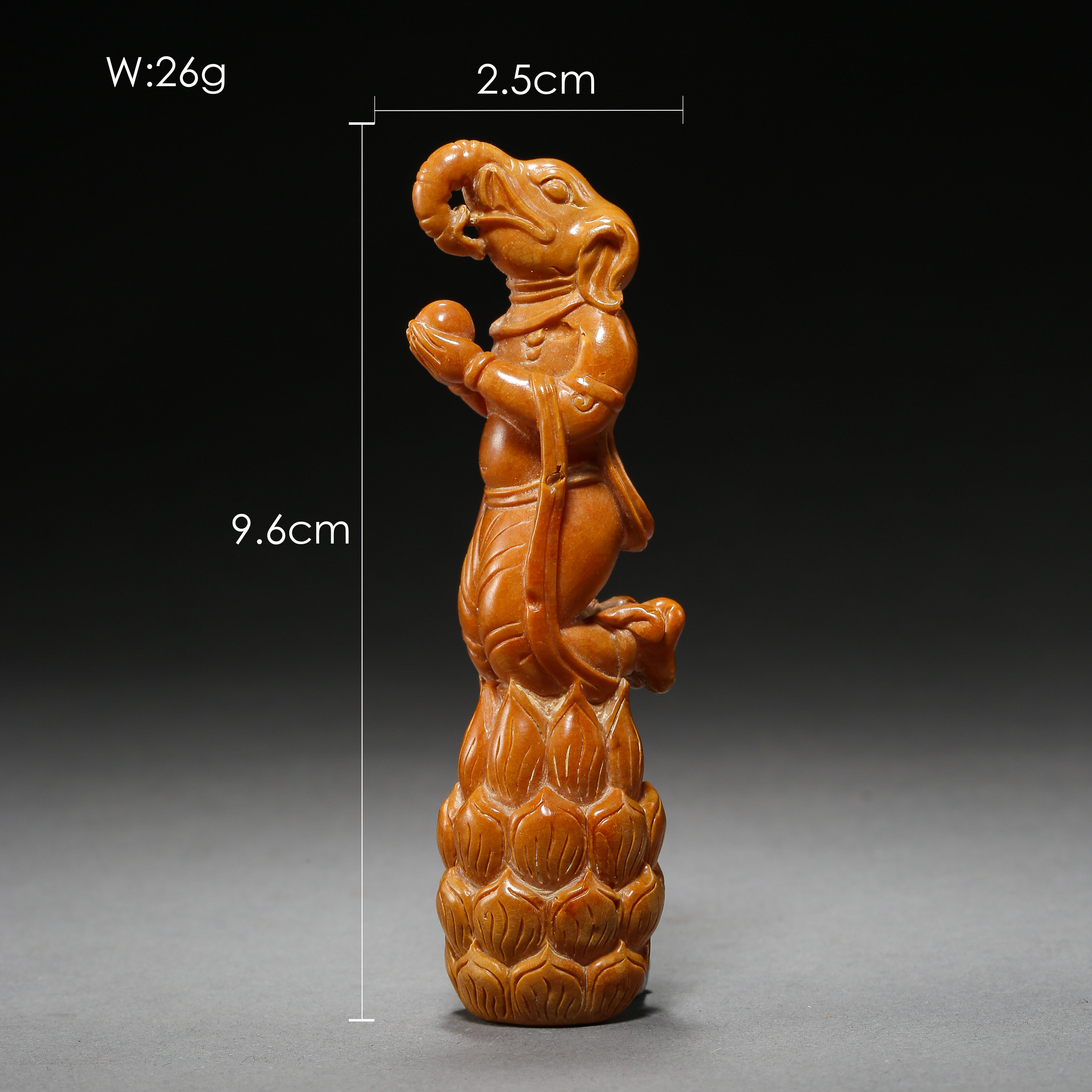 BEESWAX ELEPHANT, LIAO OR JIN DYNASTIES, CHINA - Image 3 of 10