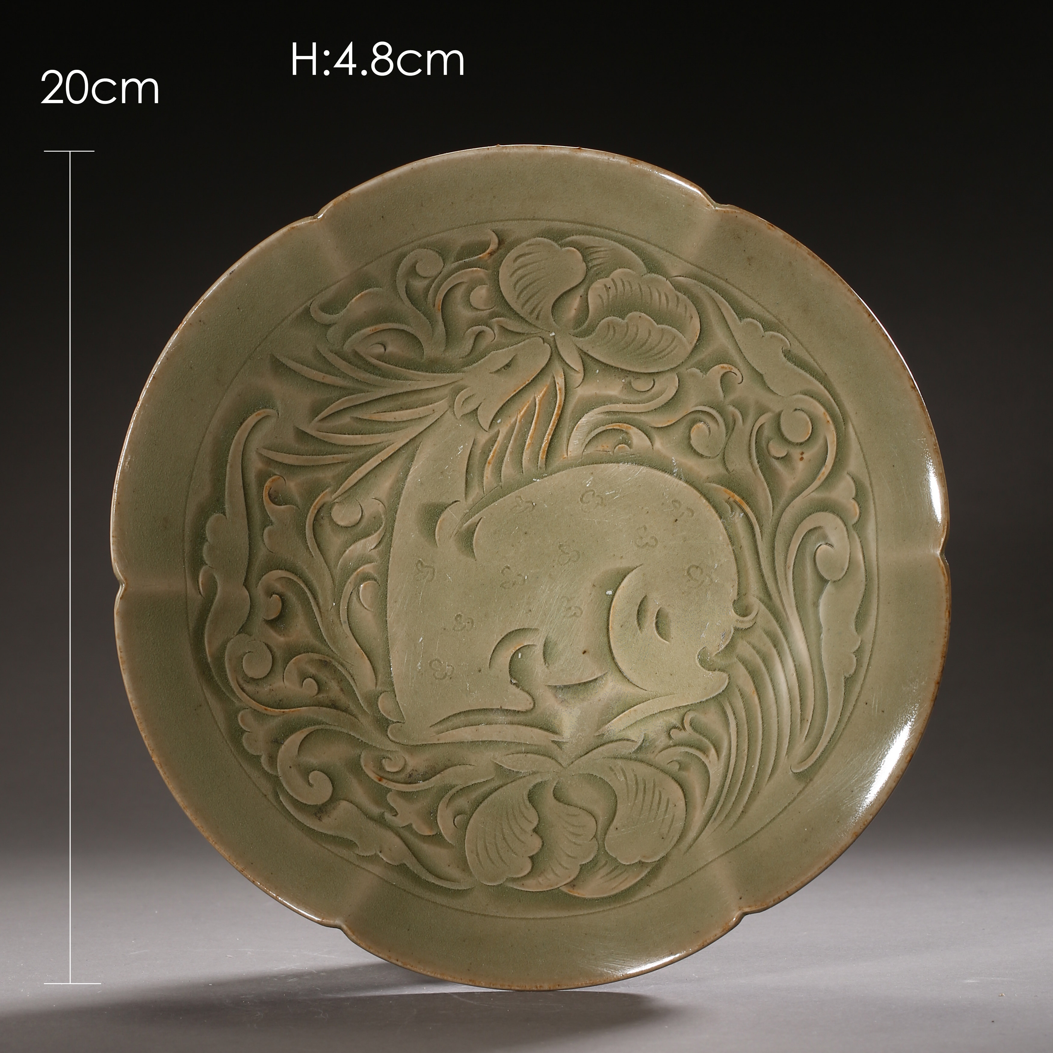 YAOZHOU KILN PLATE WITH RAFFITO DESIGN, NORTHERN SONG DYNASTY, CHINA - Image 3 of 9