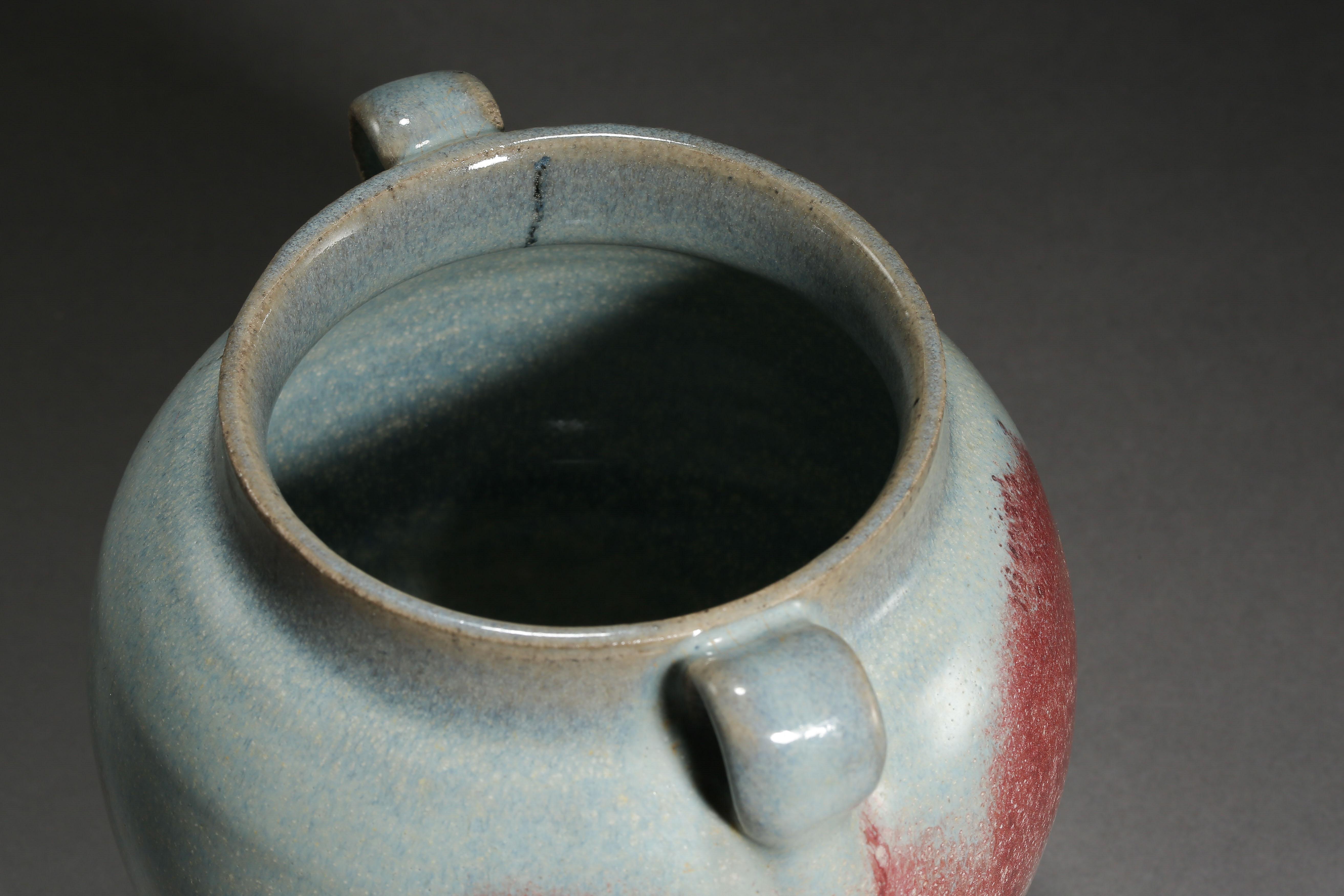JUN KILN DOUBLE HANDLE JAR, YUAN DYNASTY, CHINA - Image 9 of 10